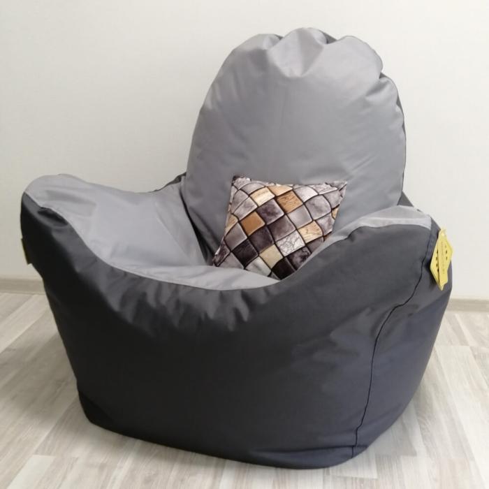 Кресло-премиум Стронг Серый Комби