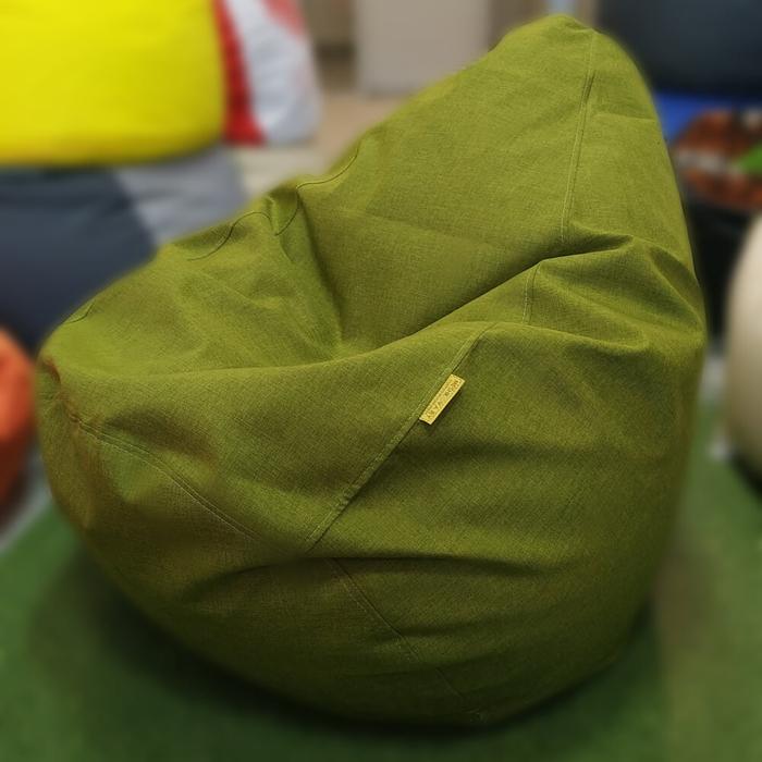 Кресло-груша Рогожка Зеленая