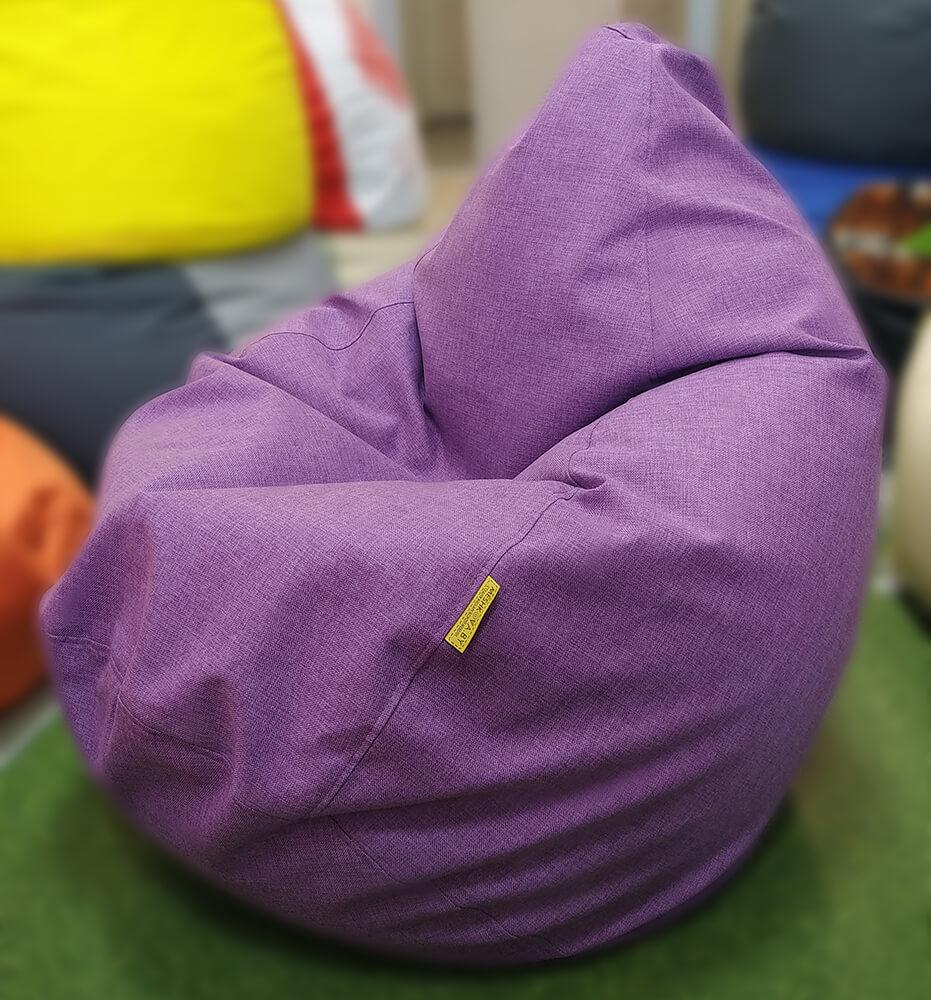 Кресло-груша Рогожка Сиреневая