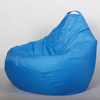 Кресло-груша Стронг Голубая