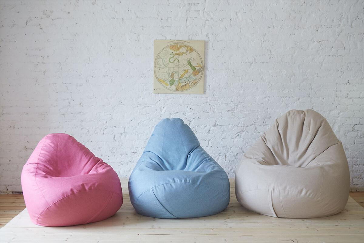 Выбираем форму кресла мешка для отдыха и работы